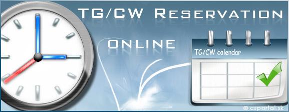 Online rezervácia TG/CW servera